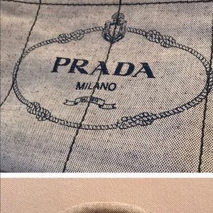 Prada Bags - Authentic Prada Logo Oversized Canvas Grey Tote